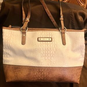 Relic alligator embossed leather tote style purse